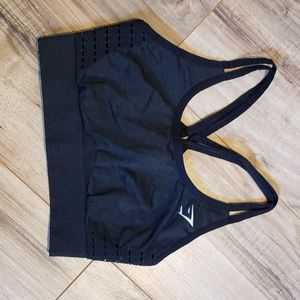 Gymshark origin seamless bra XS black